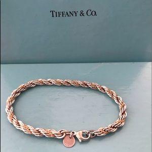 Tiffany & co. 925 & 18k gold rope bracelet
